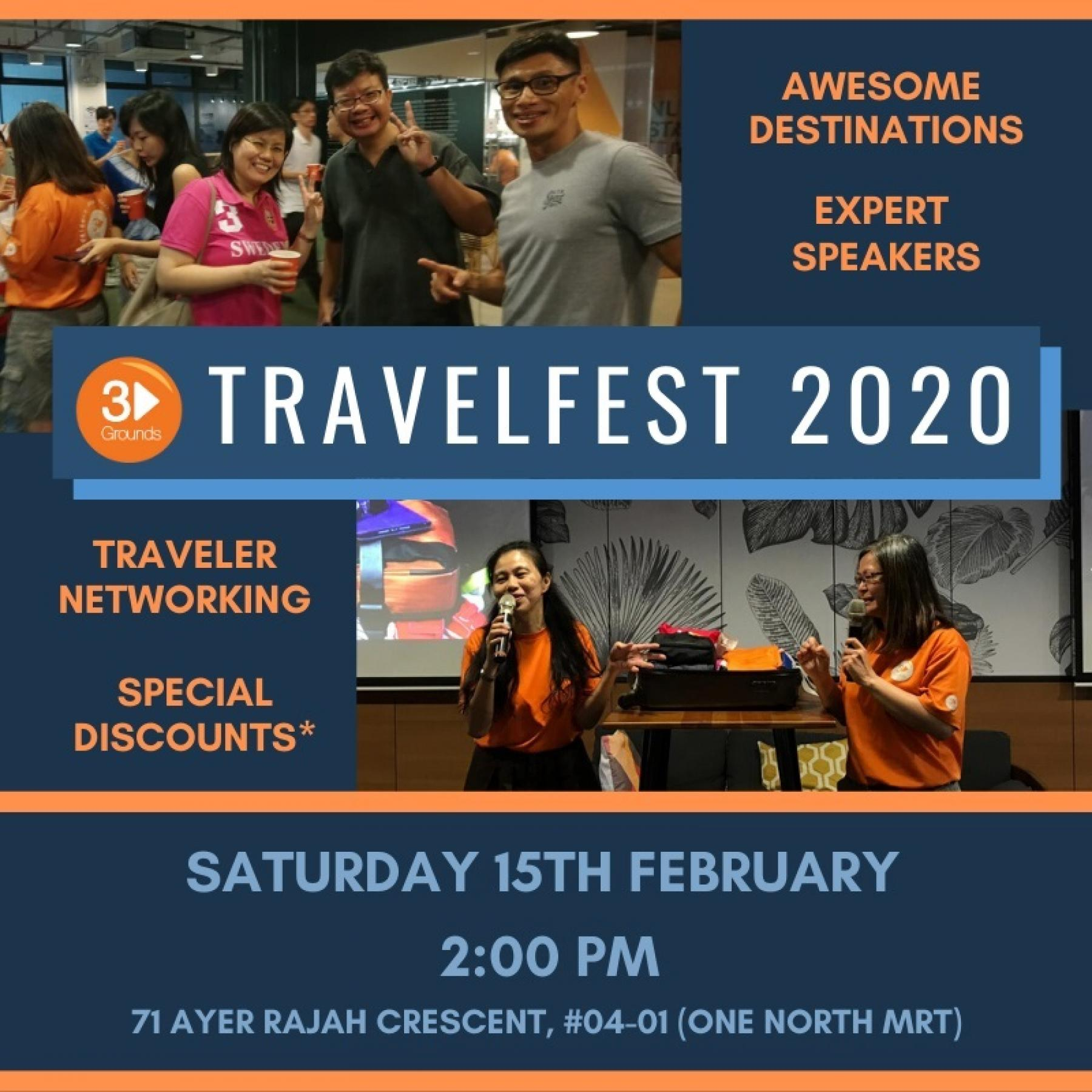 Seeking a New Adventure? Come to TravelFest 2020 - EVENT POSTPONED starting at Singapore