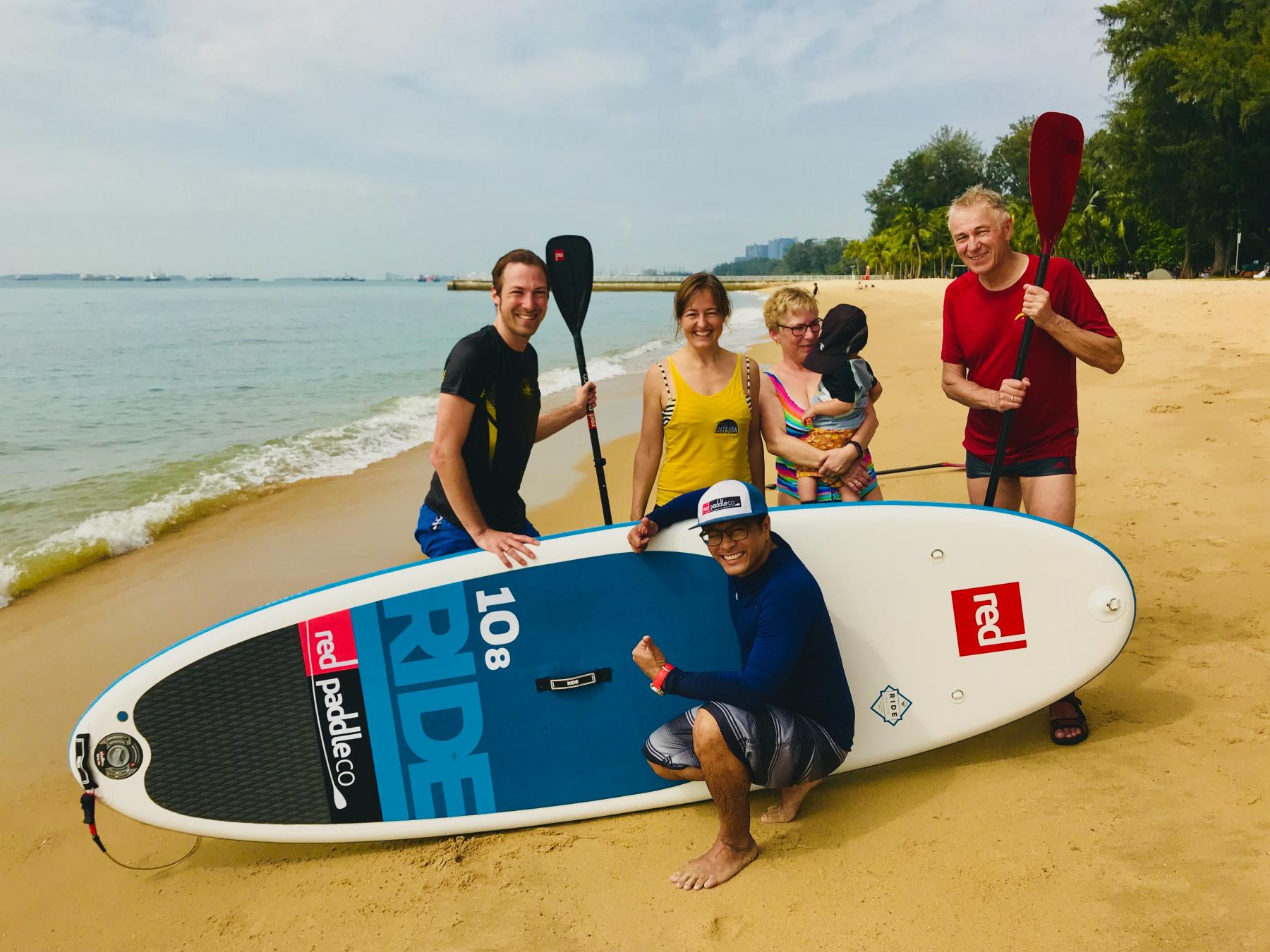 Let's learn paddleboarding at East Coast Park! starting at 920 East Coast Parkway, Singapore