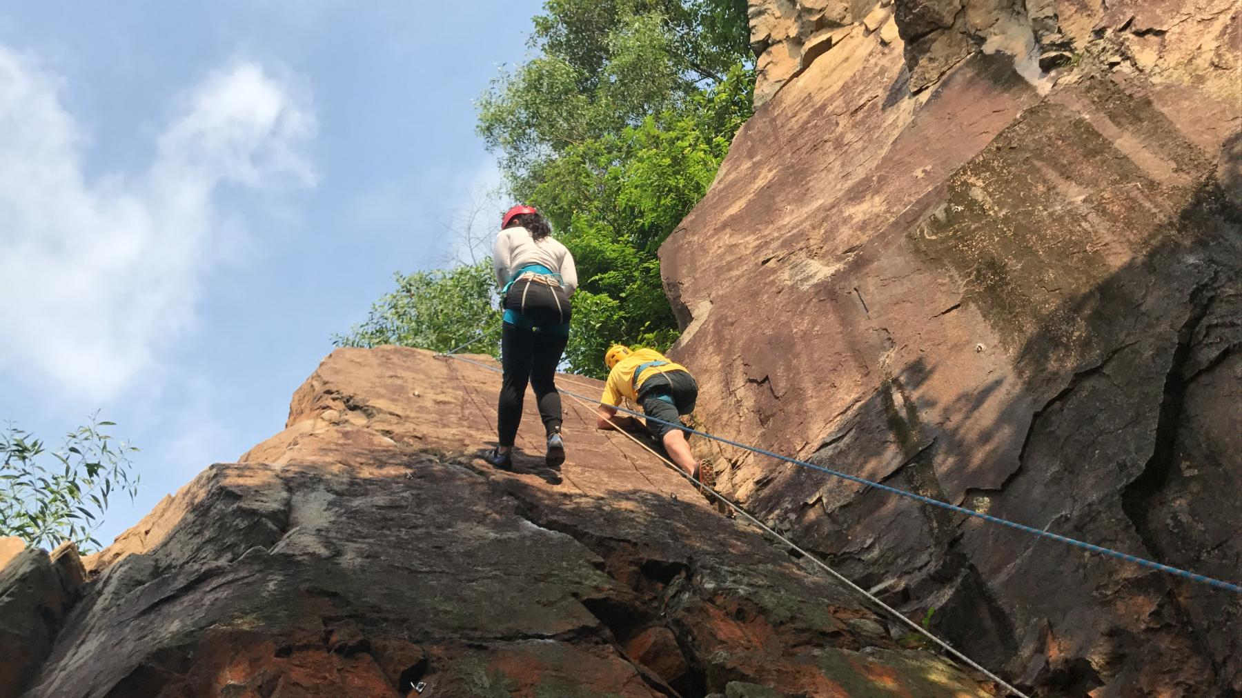 Intro Course: Natural Wall Rock Climbing and Abseil starting at Dairy Farm Rock Climbing Wall Singapore