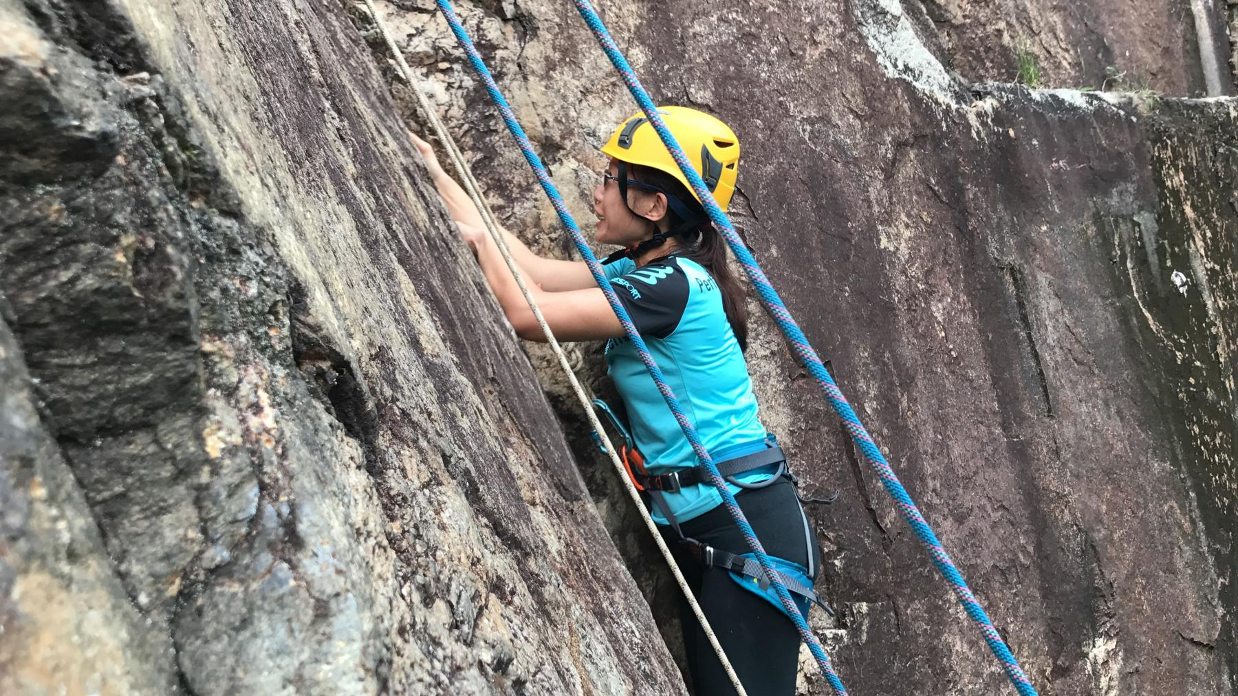 Natural Rock Wall Climbing and Abseiling starting at Dairy Farm Rock Climbing Wall Singapore