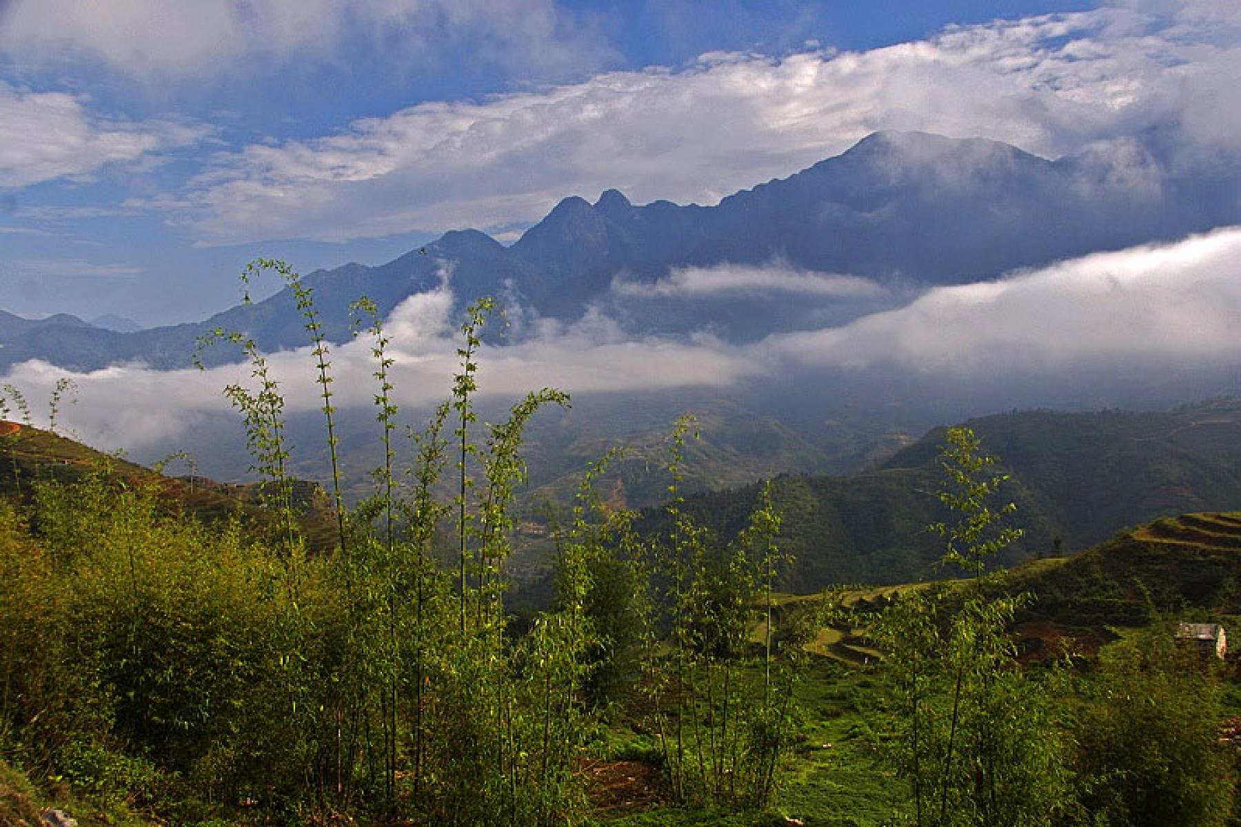 Sapa's mountains in Vietnam with the local Hmong tribe starting at Sa Pa, Lao Cai, Vietnam