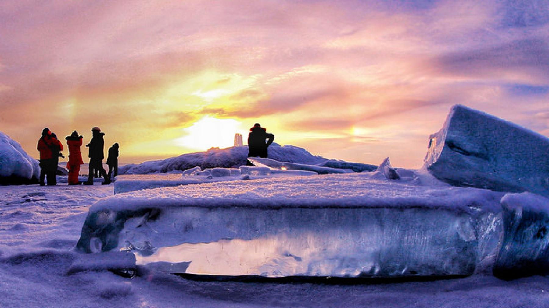 Experience the frozen Lake Baikal - the deepest and oldest lake in the world starting at Irkutsk, Russia