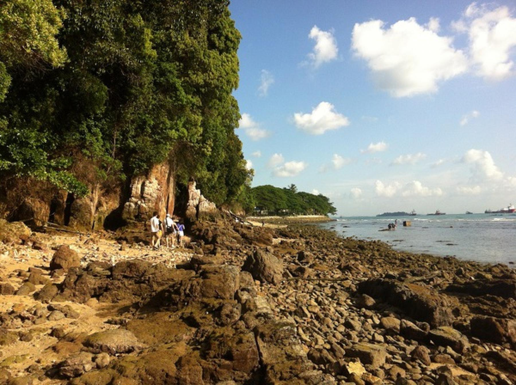 Let's hike the Hidden Beach of Sentosa starting at Sentosa Singapore