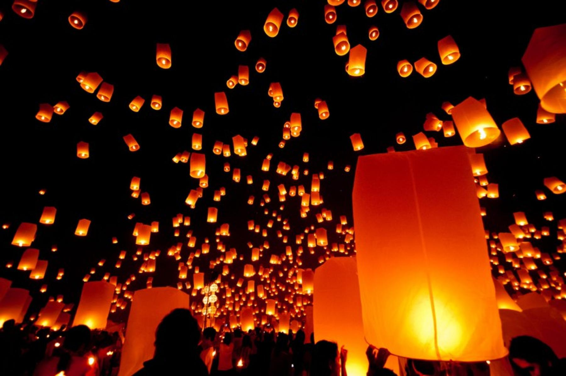 4D3N Chiang Mai, Epic New Year Eve Lantern Release, Ethical Elephant Experience starting at Chiang Mai, Thailand