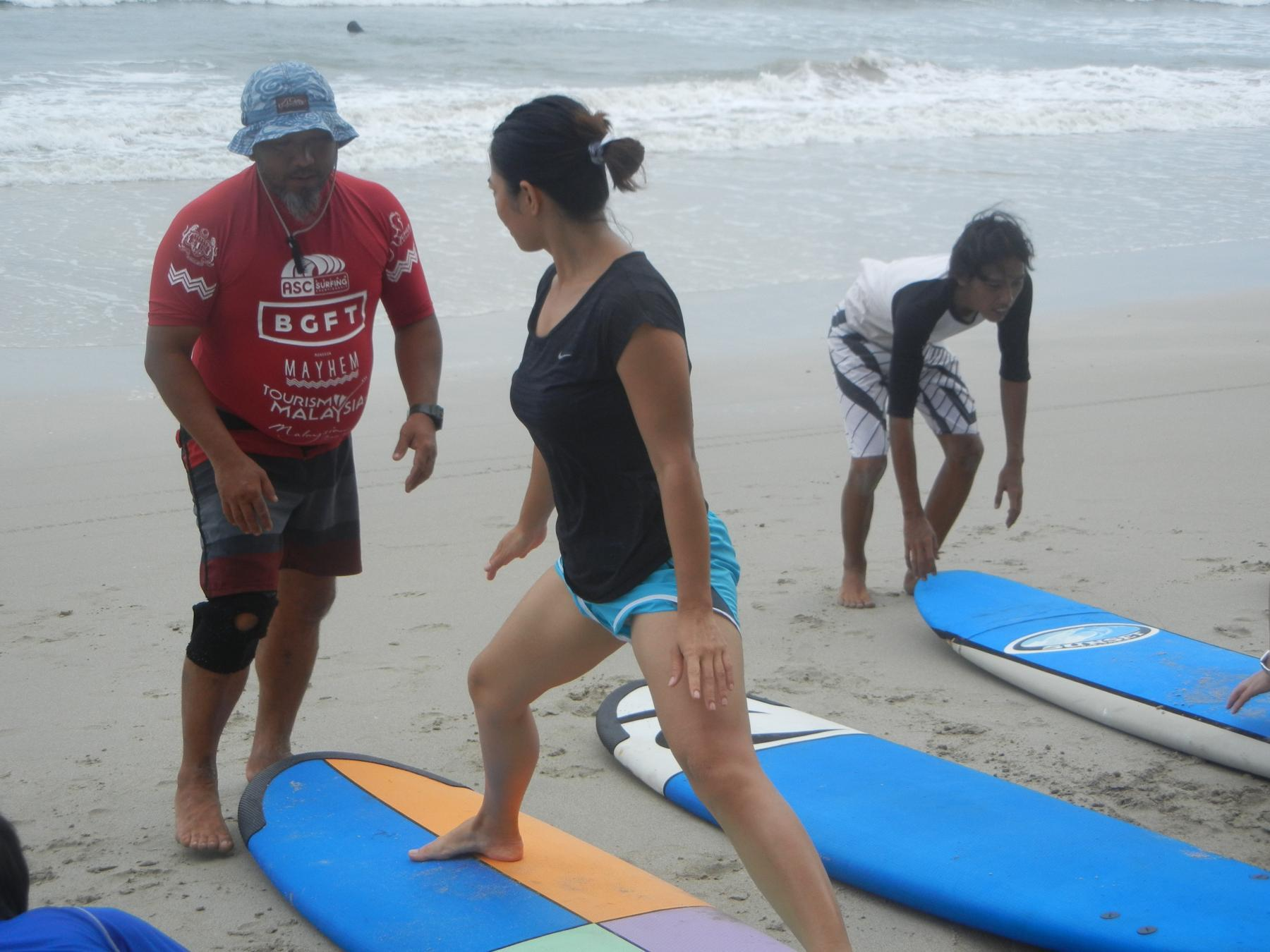 Let's learn surfing for a day (beginners welcome) starting at Tanjung Sedeli Johor Malaysia