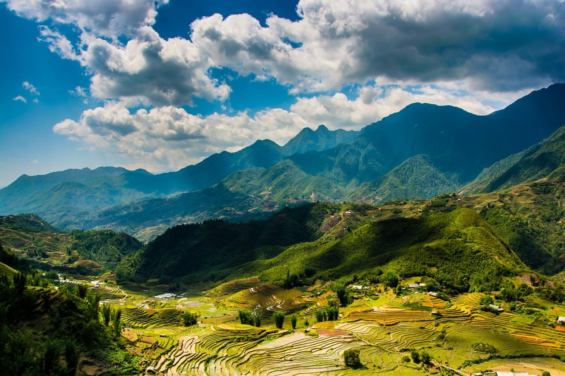 Let's See The Sapa Mountains, Experience The Golden Rice Harvest and Ha Long Bay starting at Sa Pa, Lao Cai, Vietnam